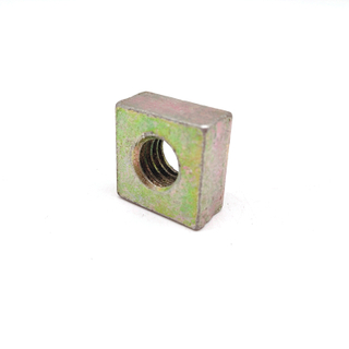 Customized Carbon Steel M24 M30 M36 Stamping Color Zinc Coated Square Nut