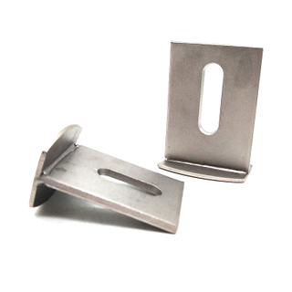 Stainless Steel SS304 90 Degree L Type Corner Brace Angle Bracket / Deck Hardware Brackets