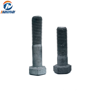DIN 933 GB5783 Carbon Steel Competitive Price ASTM A394 Hot DIP Galvanzing HDG Hex Head Electric Tower Bolt