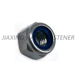 DIN958 Stainless Steel SS304 / 316 Hex Head Nylon Insert Locked Nut