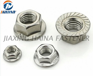 DIN6923 Stainless steel A2 A4 Hex Flange Nut With Serration