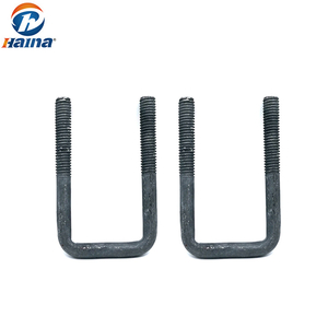 OEM Wholesale DIN3570 Carbon Steel U Bolt for Electric Tower Equipment HDG U Shape Bolt