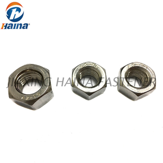 DIN934 A2-70 SS304 Stainless Steel Hexagon Hex Nuts