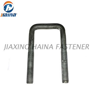 Carbon Steel HDG Grade 8.8 Square Bend U Bolt
