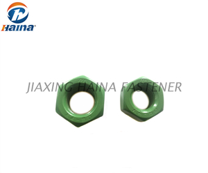 Teflon PTFE Coated Xylan 1070 Green DIN934 Stainless Steel Hex Nut
